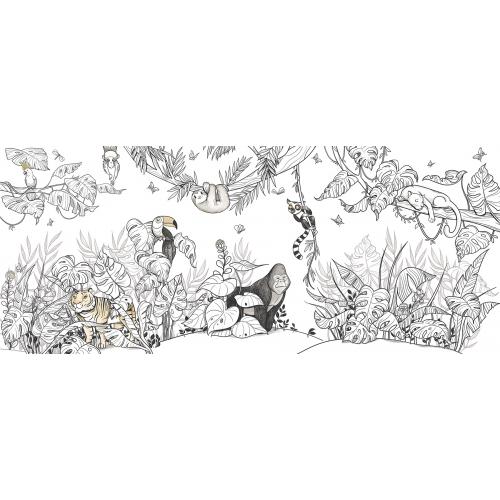 Papier peint panoramique Jungle 02