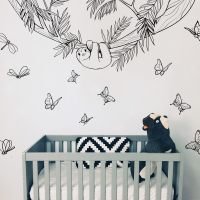 Lazy wall stickers