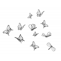butterflies and dragonflies wall stickers