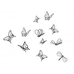 Sticker papillons et libellules