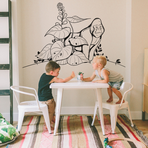 the gorilla wall stickers