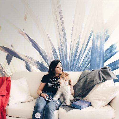 Papier peint panoramique Lady Palm