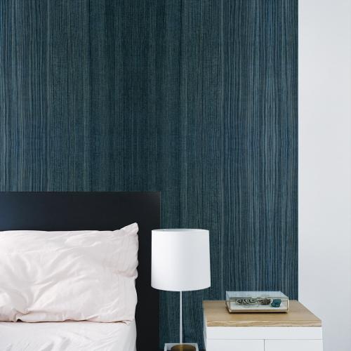 Blue wood panoramic wallpaper