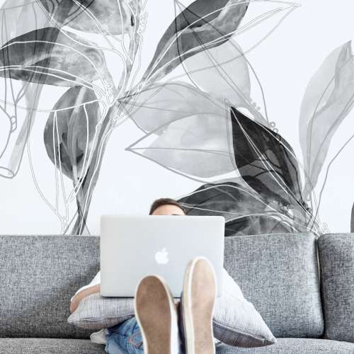 Laurel branch panoramic wallpaper