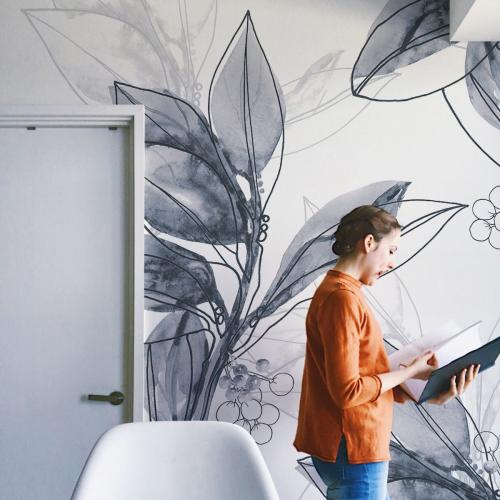 Laurel branch panoramic wallpaper 2