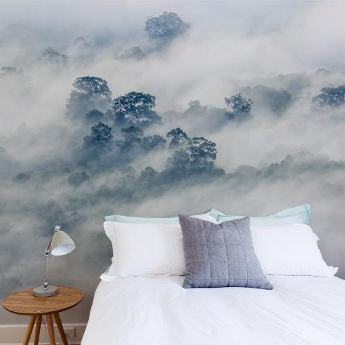 Papier peint panoramique Brumes matinales 01