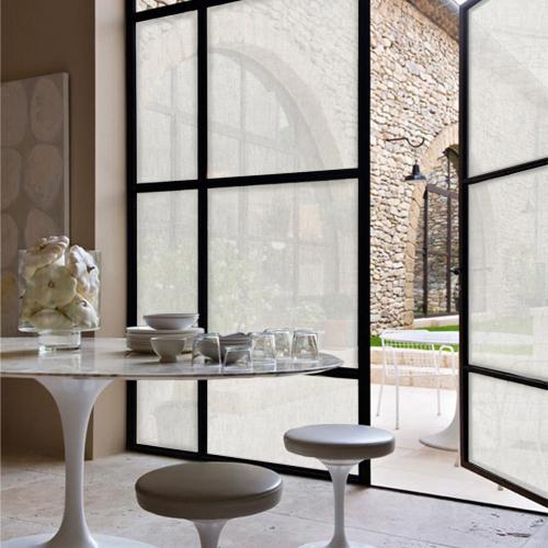 Window fabrics Squid Chalk