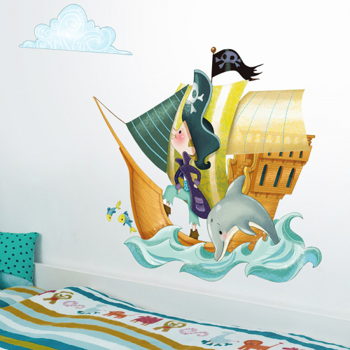 Pirate Boat wall stickers