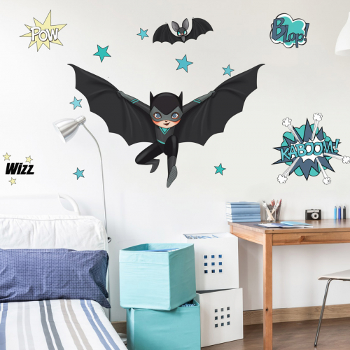 Super Heroes Black and Bat wall stickers