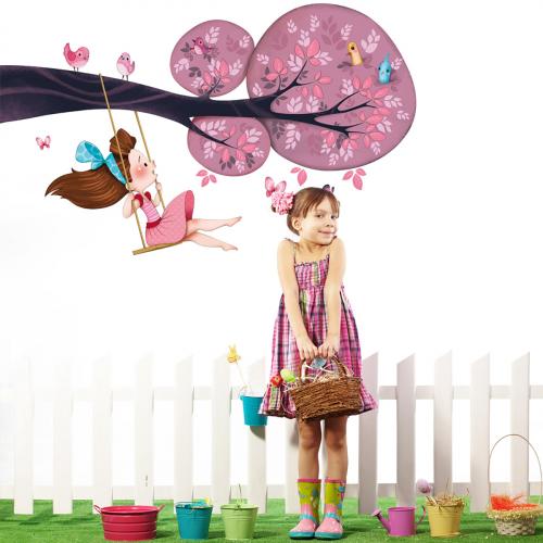 Swing Girls wall stickers