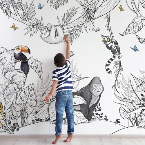 Jungle panoramic wallpaper